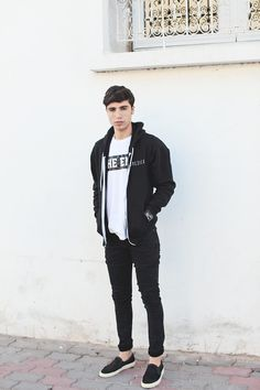 Fashion inspiration - black and white for men | Raddest Looks On The Internet: http://www.raddestlooks.net