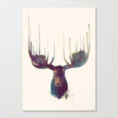 Moose Stretched Canvas by Amy Hamilton,    should get this for the cabin..