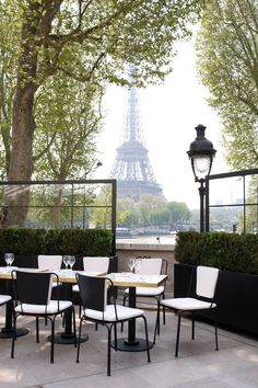 The view from the terrace at le Palais de Tokyo in Paris. The Eiffel Tower is in the background but what caught my eye is the distinctive Parisian lamp post on the right. Paris Travel, France Travel, Monsieur Bleu Paris, Places To Travel, Places To See, Belle France, Paris Love, Paris Paris, Montmartre Paris