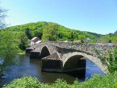 Le Pont Roman de Menat  Combrailles  - vallée de la Sioule - Puy de Dôme
