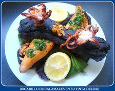 Bocadillo de Calamares en su Tinta Deluxe (con video-receta)