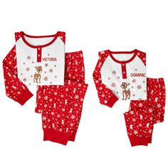 Personalized Rudolph Christmas pj set by @pcgifts