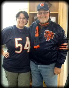 A Bears fan had to come in and show his pride with Miss K