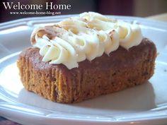 Mini Pumpkin Pound Cakes with Cream Cheese Frosting Pumpkin Pound Cake, Pumpkin Bread, Cake With Cream Cheese, Cream Cheese Frosting, Pumpkin Recipes, Cake Recipes, Rich Cake, Pumpkin Cream Cheeses, Fall Baking
