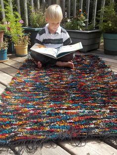 Pendleton Wool Rug Handwoven Turquoise and Multi 33x54...via Etsy.