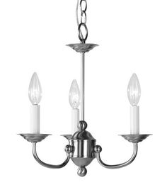 Livex Lighting 4153-91 Home Basics Mini Chandelier in Brushed Nickel