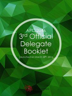 APC 2016 3rd Official Delegate Booklet