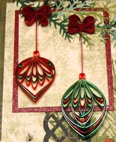 Quilling christmas Ornament