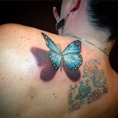 Most Effective Ways To Overcome Butterfly Ass Tattoo's Problem Butterfly Tattoo Cover Up, Butterfly Tattoo Meaning, Butterfly Tattoo On Shoulder, Butterfly Tattoos For Women, Butterfly Tattoo Designs, Shoulder Tats, Tatto Designs, Butterfly Design, 3d Tattoos