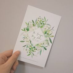 Greenery Wedding Invitations, Spring Green Wedding Invitations, Watercolor Botanical Wedding Invitations The invitations come with an outer envelope. ( if you need to add a envelope liner the price is 0.25USD for each envelope liner. The size of the invitations is 115*180mm