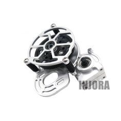 1:10 RC Crawler Silver All Metal Transmission / Center Gearbox for 1/10 Axial SCX10 Gear Box Parts