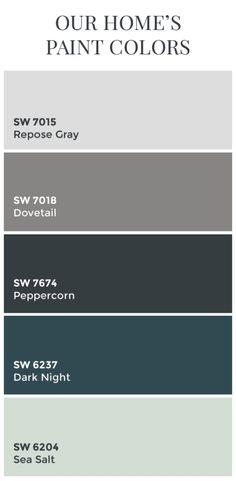 Our Home's Paint Colors – DESIGN TWO BUILD