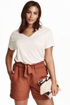 H&M+ Pantalón corto con lino | H&M                              …
