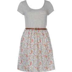 Blue and Grey 2-in-1 Floral Belted T-Shirt Dress and other apparel, accessories and trends. Browse and shop 8 related looks.
