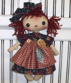 PriMiTiVe Folk Art CouNTrY DOLL RaGGeDy Ann RaG DoLL TaG ANNiE CoUNTrY | eBay
