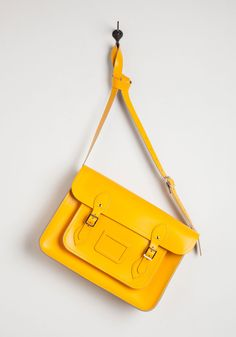 Cambridge Satchel Company Bag in Yellow - 14 inch, #ModCloth