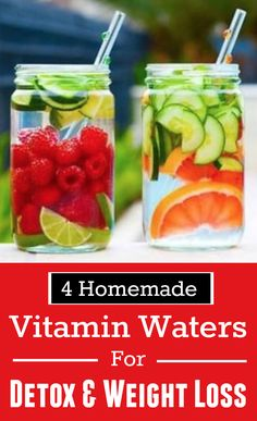 4 Homemade Vitamin Waters For Detox & Weight Loss - Life on Hands