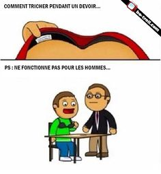 Comment tricher pendant un devoir. #Humour #Rire