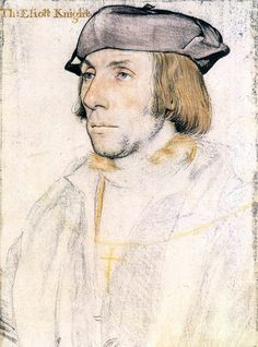 Sir Thomas Elyot by Hans Holbein the Younger - List of portrait drawings by Hans Holbein the Younger - Wikipedia Trois Crayons, Renaissance Kunst, Renaissance Portraits, Renaissance Artists, L'art Du Portrait, Portrait Sketches, Figure Drawing, Painting & Drawing, Academic Drawing