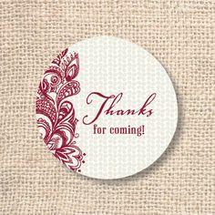 Boho Merlot Thank You Circles Wedding от AllisonKizerDesigns