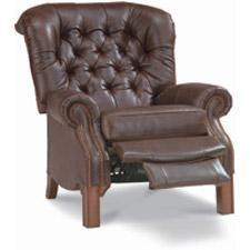La-Z-Boy Van Buren High Leg leather recliner in greystone leather for the man cave