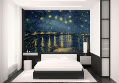 Van Gogh wall mural by www.wallpapered.com