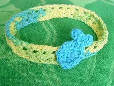 6-12 month crochet headband with fish applique