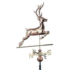 Whitehall Products Polished 48 in. Deer Copper at The Home Depot Whitehall Products, Weather Vanes, Copper And Brass, Lowes Home Improvements, Decorative Bells, Deer, Polish, Beautiful, Canterbury