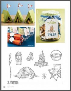 Camping Theme party ideas