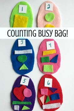 Pack up hours of play with this Easter egg busy bag math activity. Preschool Learning Activities, Easter Activities, Infant Activities, Easter Crafts, Preschool Activities, Kids Learning, Number Activities, Spring Activities, Indoor Activities