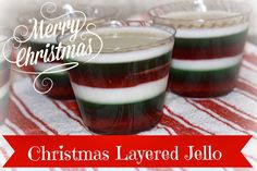 Recipes We Love: Layered Christmas Jello. Shades of Grandma C! Xmas Food, Christmas Sweets, Christmas Cooking, Christmas Goodies, Christmas Candy, Christmas Buffet, Christmas Entertaining, Christmas Countdown, Holiday Parties
