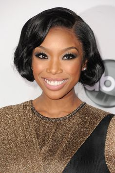 Brandy #makeup #style at the 2012 American Music Awards