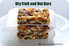 High energy Dry Fruit and Nut Bars from @ZestySouthIndia