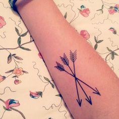Medium arrows temporary tattoo set by stayathomegypsyshop on Etsy, $8.00