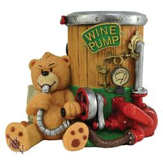 Bad Taste Bears Vino - Wine Bottle Holder (BTB) - Wine bottle holders are part of the new gift range for 2016. Designed by Peter Underhill and manufactured by Nemesis Now.  Available to buy now from www.badtastebears.com