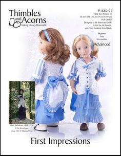 """First Impressions 16"""" and 18"""" Doll Clothes"""