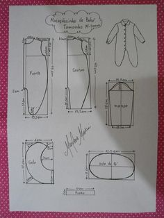 This schemes showing us how to design baby dress size when we trying to make it myself. Baby Born Clothes, Sewing Baby Clothes, Girl Doll Clothes, Baby Sewing, Baby Dress Patterns, Baby Clothes Patterns, Kids Patterns, Sewing Patterns, Baby Knitting