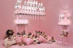 #LeeLee Collection #chandelier #pink #design