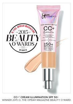 Our CC+ Cream Illumination SPF 50+ has won a 2015 O, the Oprah Magazine Beauty O-ward! Full coverage + subtle radiance = your confidence in a cream!