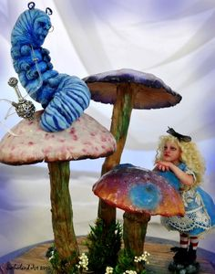 Alice meets Caterpillar by SutherlandArt.deviantart.com on @deviantART