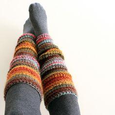 Beginner Crochet Leg Warmers  Fun idea, just need different colors.