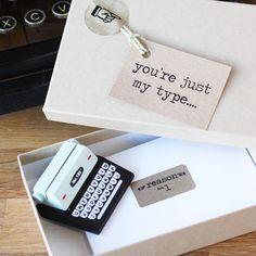 Mini typewriter love notes