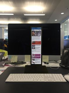 In answer to the @nytimes's mobile experiment http://www.poynter.org/news/mediawire/350867/nyt-will-block-employee-access-to-desktop-hompage-for-a-week/ …, meet our new mobile-optimised monitors.