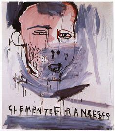 Jean-Michel Basquiat > portrait of Francesco Clemente