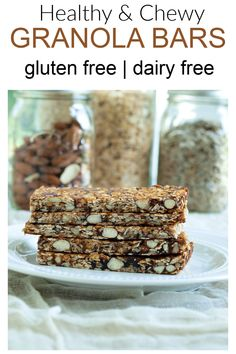 easy homemade fruit, nut, and seed granola bars A healthy and easy to make snack Prep Time: 15 minutes Cook Time: 15 minutes . Healthy Granola Bars, Chewy Granola Bars, Healthy Bars, Healthy Snacks, Healthy Recipes, Healthy Breakfasts, Protein Snacks, Happy Healthy, High Protein