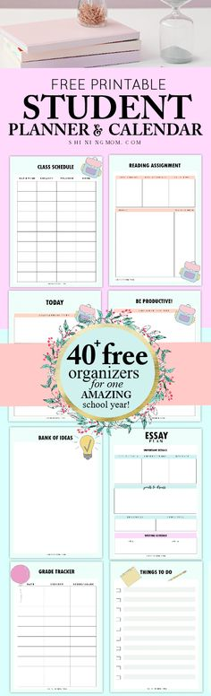 Really, it's FREE? Print this FREE student planner printable and plan an awesome school year! It's great for your school binder!    #studentbinder #student #studentplanner #school