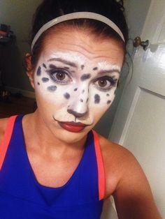 Dalmation halloween makeup