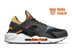 separation shoes 743b5 a3c44 Nike Wmns Air Huarache Run SD - Chaussure Nike Sportswear Pas Cher Pour  Femme Enfant Noir Jaune tour Rose framboise Violet persan 724764-005G
