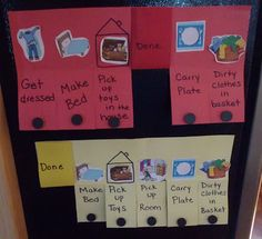 simple chore chart for 3 1/2 and 5 year old