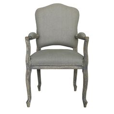 French Grey Dining Chair With Arms Sweetpea & Willow London